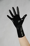 Black Latex Short Gloves