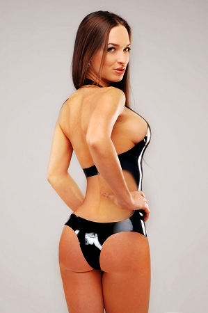 Latex bathing suits